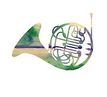 Watercolor French Horn by futuredirewolf
