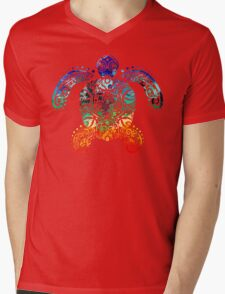 Inked Sea Turtle Mens V-Neck T-Shirt