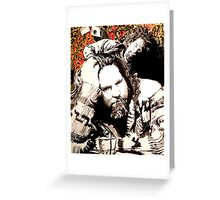 The Dude and his rug Greeting Card