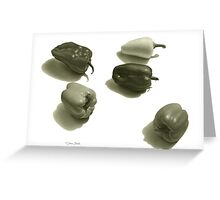 Five Peppers Greeting Card