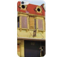 Lovely old lady lost a contact lens iPhone Case/Skin