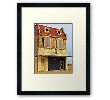 Lovely old lady lost a contact lens Framed Print