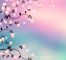 Cherry Blossoms And Candy Clouds by Stephanie Rachel Seely