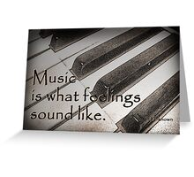 Music . . . Greeting Card