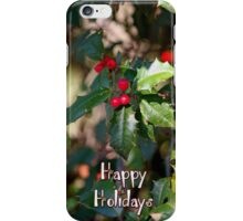 Happy Holidays Holly iPhone Case/Skin