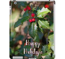 Happy Holidays Holly iPad Case/Skin