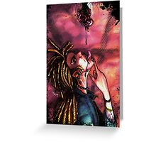 vampire, blood and rose Greeting Card
