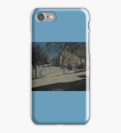 Village House In Winter iPhone Case/Skin