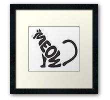 Meow Typography Framed Print