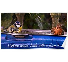 Save water,bath with a friend! Poster