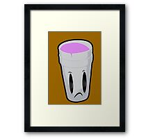 Double Cup Sad Framed Print