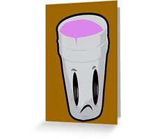 Double Cup Sad Greeting Card