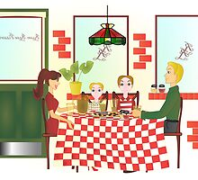 Russo Rosa Pizzeria II, or The Family Dinner by trennea