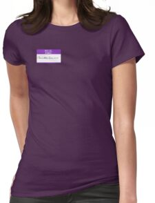 Hello, My Name is: Carlos, Scientist. Womens Fitted T-Shirt