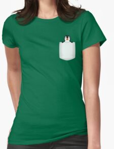 3D Pocket Penguin Womens Fitted T-Shirt