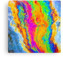 Accent Art - Tie-dye Oil Slick on Water Canvas Print