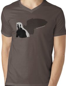Silhouette of the one winged angel  Mens V-Neck T-Shirt