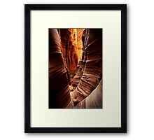 Zebra Slot Canyon Framed Print