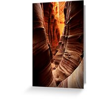 Zebra Slot Canyon Greeting Card