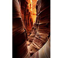 Zebra Slot Canyon Photographic Print
