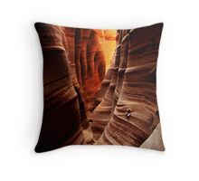 Zebra Slot Canyon Throw Pillow