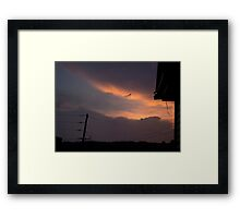 HDR Composite - A Messenger Sky at Sunset Framed Print