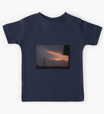 HDR Composite - A Messenger Sky at Sunset Kids Tee