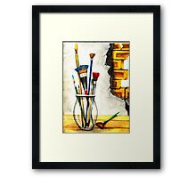 More Brushes Framed Print