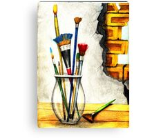 More Brushes Canvas Print