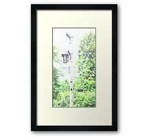 HDR Composite - A Power Pole and Transformer Exposed Framed Print