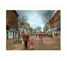 Saturday Shoppers Art Print