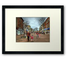 Saturday Shoppers Framed Print