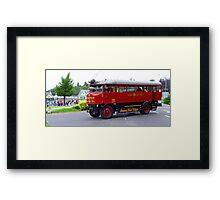 Steam Bus Framed Print