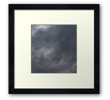 HDR Composite - A Sky of Fluffy Gray Framed Print