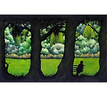 the Park Bench Photographic Print