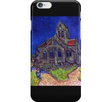 'Church of Auvers' by Vincent Van Gogh (Reproduction) iPhone Case/Skin