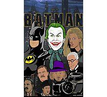 Tim Burton Batman 25th Anniversary collage painting Photographic Print
