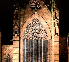 Carlisle cathedral at night by Phil Emerson