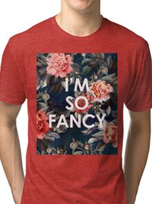 I'm So Fancy Iggy Azalea Inspired Watercolor Blush Peonies Art Print Tri-blend T-Shirt