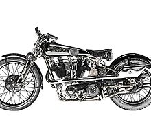 1929 Brough Superior SS100 by surgedesigns