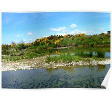 Trickling Down! - Still Pools - Oriti River Soutland Poster