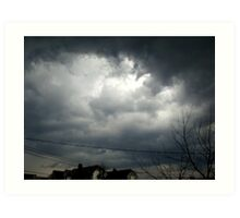 As the Storm rolls in... Art Print