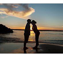 Sunset kiss fine art photography  Photographic Print