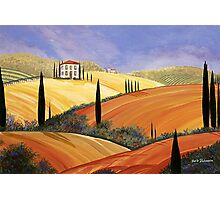 ROLLING HILLS OF TUSCANY Photographic Print