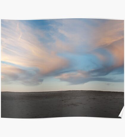 Painted pink clouds landscape photography Poster