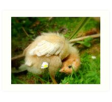 Whoops-a- Daisy! - Baby Chick - NZ Art Print