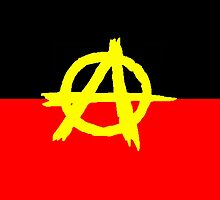 Aboriginal Anarchy Flag by ArchieMoore