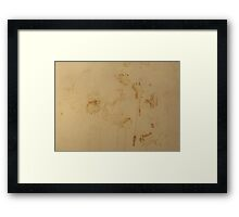 HDR Composite - Coffee Texture on Plastic Framed Print