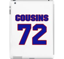 National football player Oniel Cousins jersey 72 iPad Case/Skin