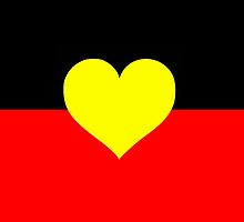 Aboriginal Heart Flag by ArchieMoore